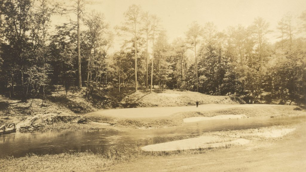 This image shows the current No. 12 hole witch played as the No. 3 in 1934.
