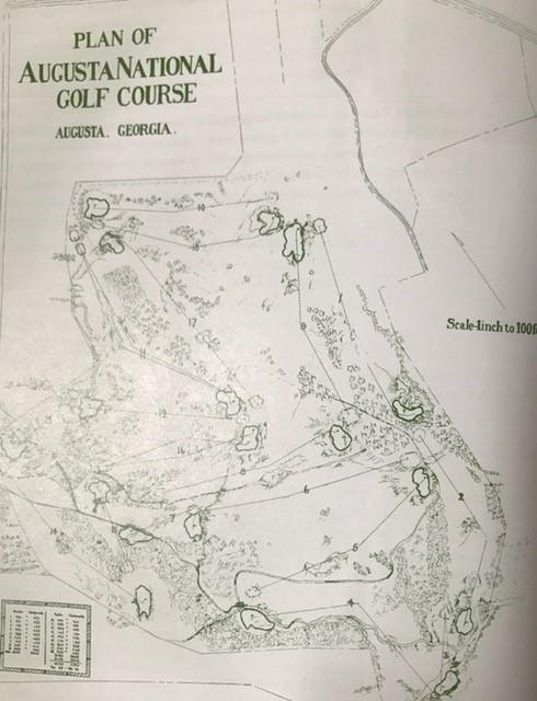 オリジナルレイアウト図面 現在の9番は18番と記されている。