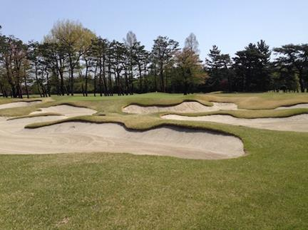東京GC #14 Alps hole Sahara bunker