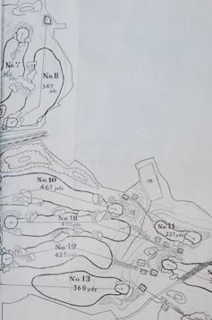 *旧藤沢CC のコネクテッドバンカー 7,8番の間、10,18,12番の間をご覧下さい