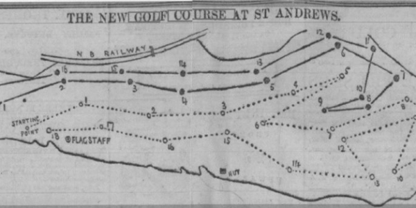 St.Andrews Old Course(上), New Course(下) 1895年